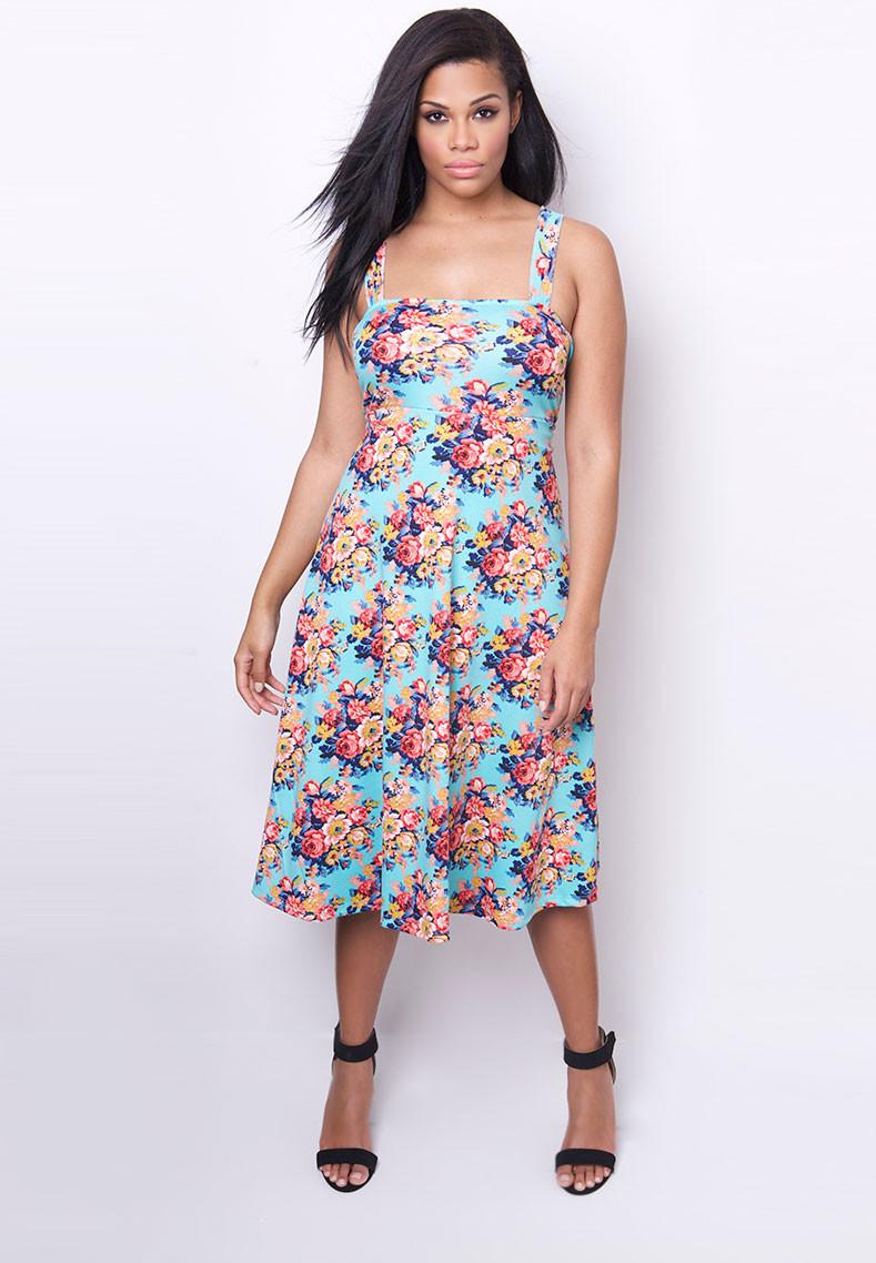 Flowy Floral Midi Dress images