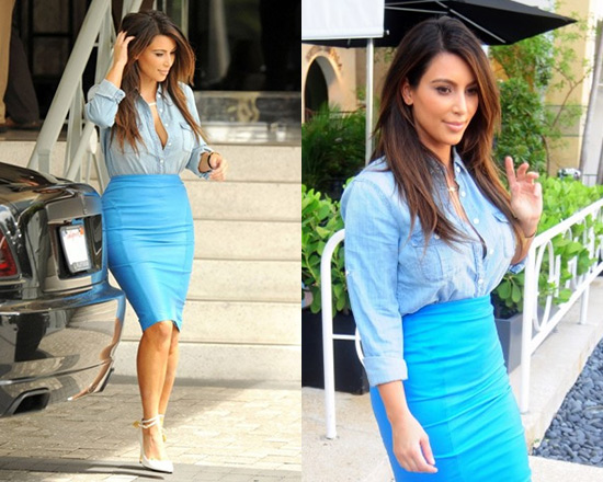 kim-kardashian-Malene-Birger-Annagria-Leather-Zip-Pencil-Skirt